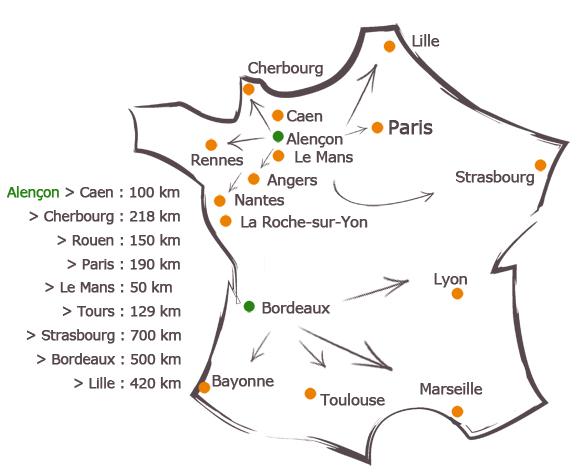Carte France Tutélaire de France